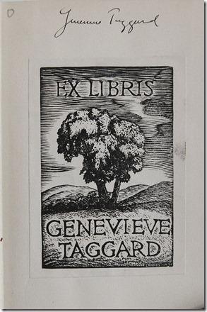 Taggard's Bookplate