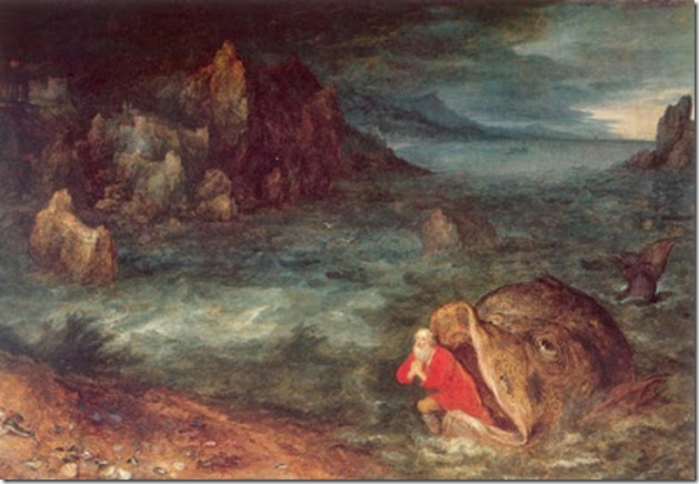 Jonah leaving the whale by jan bruegel