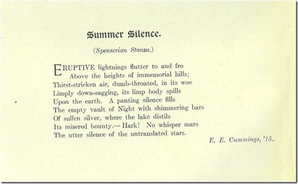 Summer Silence as originally published