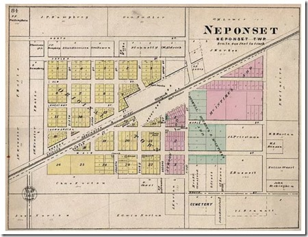 Map of Neponset in 1905