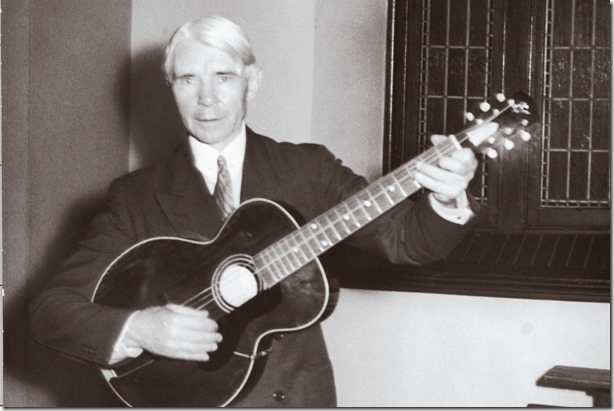 Carl Sandburg in living black and white