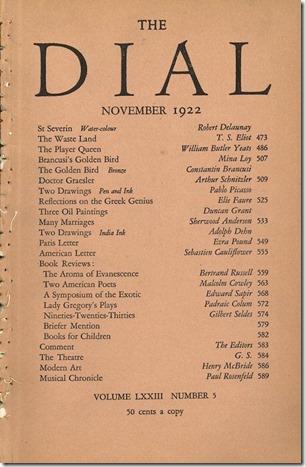 The Dial November 1922