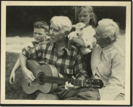 Carl Sandburg guitar kids goats