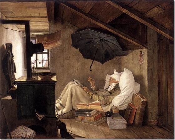 the-poor-poet-1837 by Carl Spitzweg
