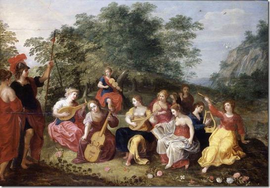 Minerva and the Nine Muses by Hendrick van Balen
