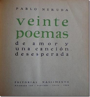Veinte Poemas Title Page
