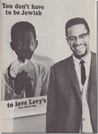 Levys Ad and Malcom X