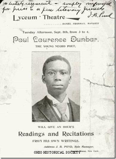 Young Negro Poet Dunbar poster