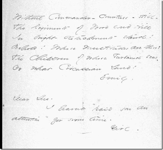 Emily's Dear Sue Note