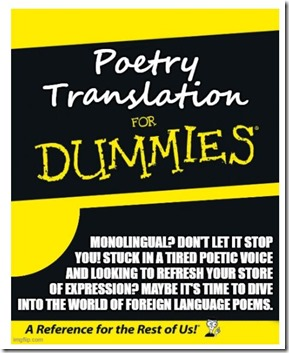 Poetry Translation for Dummies