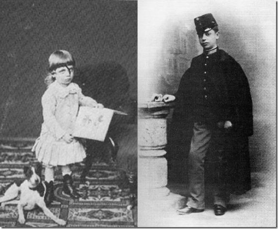 Rilke age 4 and Rilke age 11
