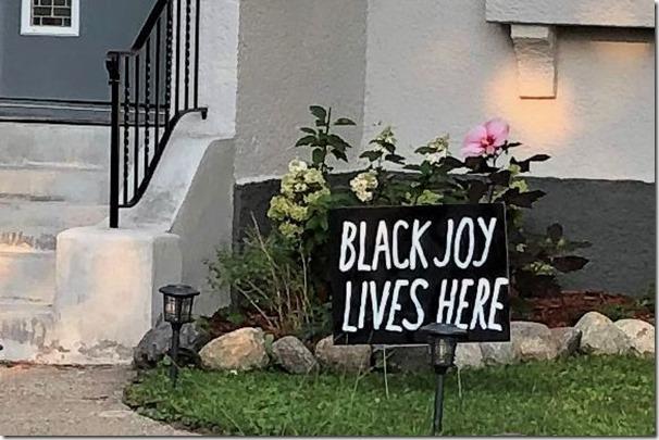 Black Joy Lives Here crop
