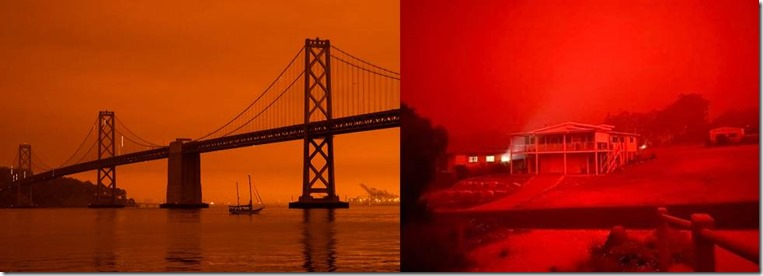 Red Forest Fire Skies US and Australia 2020