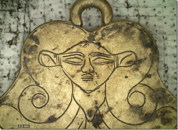 Hathor pendant from Pylos gravesite