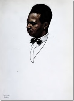 illustration of Countee Cullen by Winold Reiss from The New Negro