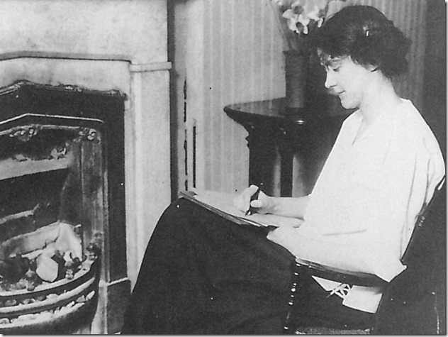 Susan Glaspell by the fireside