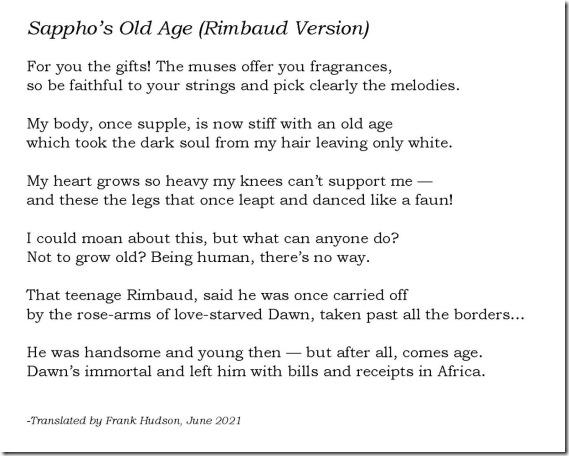Sapphos Old Age